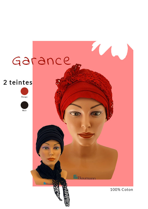 Turban Garance avec les différentes teintes
